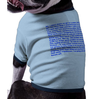 a wet dog's rant (bigger,bolder text) doggie tshirt