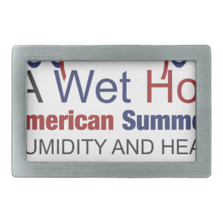 A Wet Hot American Summer Rectangular Belt Buckle