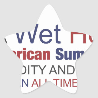 A Wet Hot American Summer Star Sticker