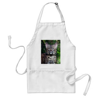 A Wet Little Bobcat Kitten Adult Apron