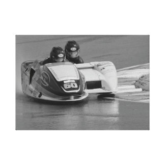 A wet race for number 60 canvas print