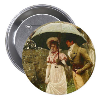 A Wet Sunday Morning Pinback Button