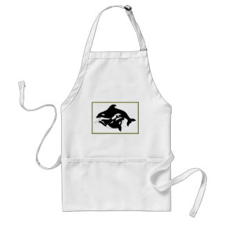 A Whale Family Adult Apron