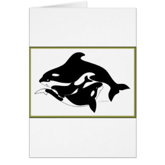 A Whale Family Card