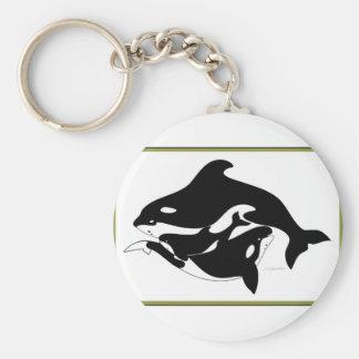 A Whale Family Keychain