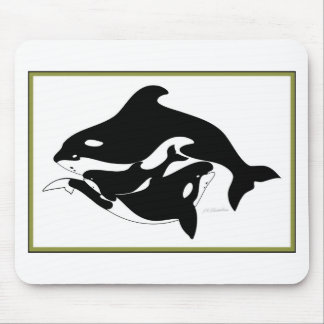 A Whale Family Mouse Pad