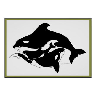 A Whale Family Print