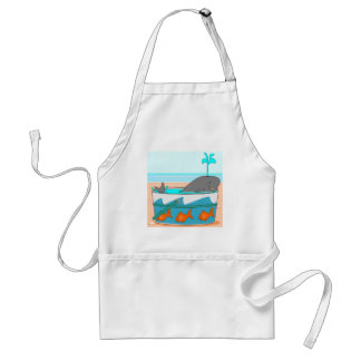 A Whale in a pail Adult Apron