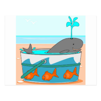 A Whale in a pail Post Cards