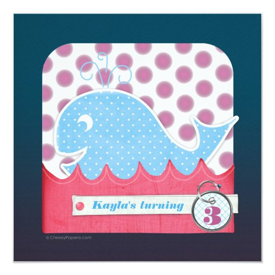 A Whale of a Birthday Invitations