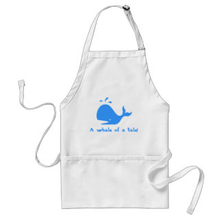 A whale of a tale aprons