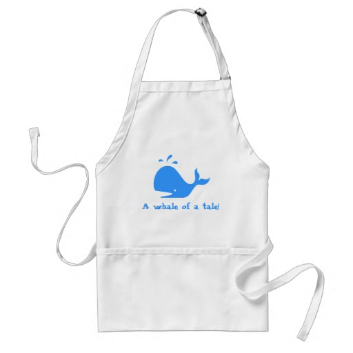 A whale of a tale! aprons