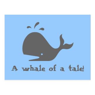 A whale of a tale! postcard