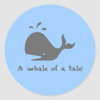 A whale of a tale stickers