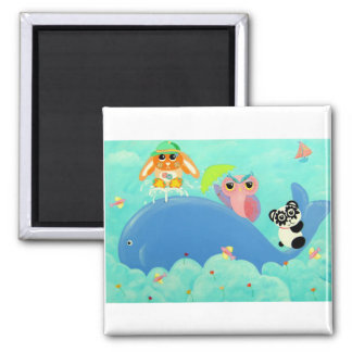 A Whale Of A Time! 2 Inch Square Magnet