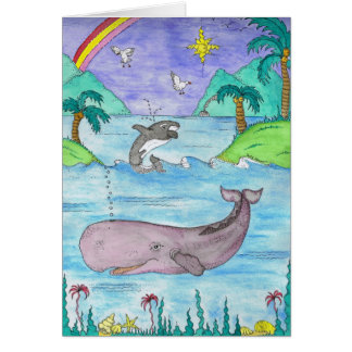 A Whale of a Time Greeting Card