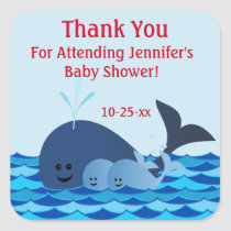 A Whale Of A Twins Baby Shower Sticker