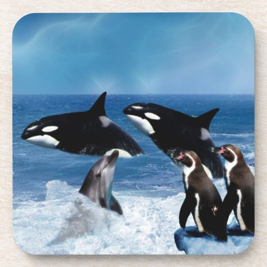 A whale of a world drink coaster