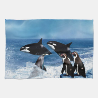 A whale of a world kitchen towel