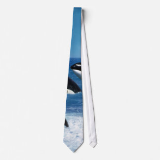 A whale of a world neck tie