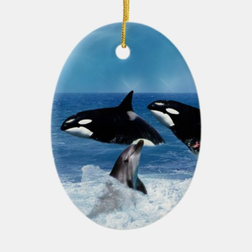 A whale of a world ornament