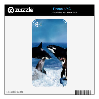 A whale of a world decals for the iPhone 4S