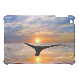 A whales tail at sunset iPad mini cases