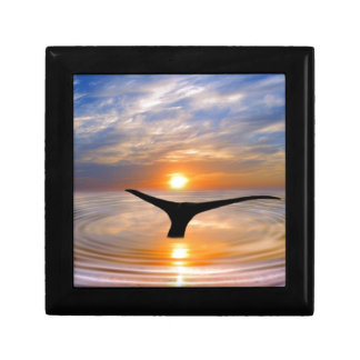 A whales tail at sunset jewelry box