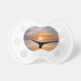 A whales tail at sunset pacifier