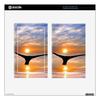 A whales tail at sunset skin for kindle fire