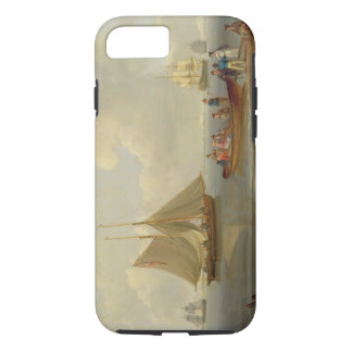 A Wherry Taking Passengers out to Two Anchored Pac iPhone 7 Case