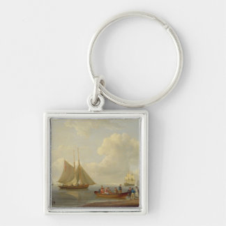 A Wherry Taking Passengers out to Two Anchored Pac Keychain