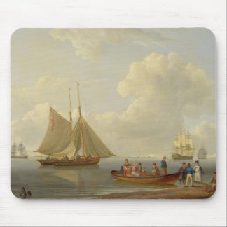A Wherry Taking Passengers out to Two Anchored Pac Mouse Pad