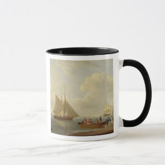 A Wherry Taking Passengers out to Two Anchored Pac Mug