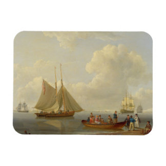 A Wherry Taking Passengers out to Two Anchored Pac Rectangular Photo Magnet