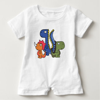 A whimsical dinosaur friend, cute and adorable. baby romper