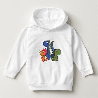 A whimsical dinosaur friend, cute and adorable. hoodie