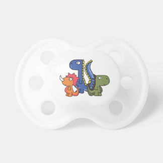 A whimsical dinosaur friend, cute and adorable. pacifier