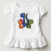 A whimsical dinosaur friend, cute and adorable. toddler t-shirt