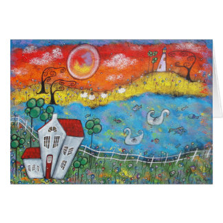 A Whimsical View Greeting Card