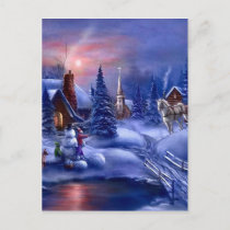 A White Christmas Holiday Postcard