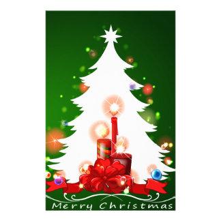 A white christmas tree stationery