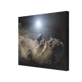 A white dwarf star canvas print