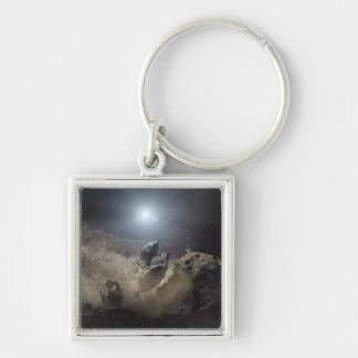 A white dwarf star keychain