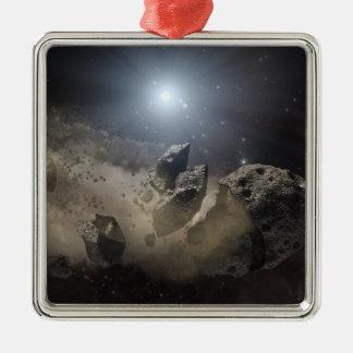 A white dwarf star metal ornament