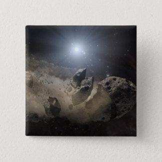 A white dwarf star pinback button