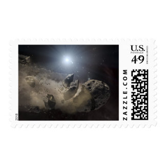 A white dwarf star postage stamp