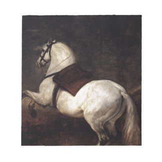 A White Horse by Diego Velazquez Note Pads
