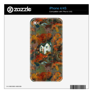 A White House & Autumn Trees Skin For iPhone 4S