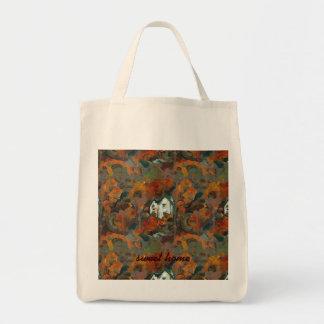 A White House & Autumn Trees Tote Bag